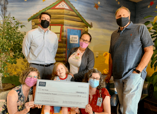 Ryan House Receives its Largest Single Cash Gift in its History!